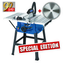 Scheppach HS 100 S Special edition asztali körfűrész + fűrészlap 48 f. (5901310905)