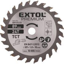 Extol Prémium körfűrészlap, keményfém lapkás, 89 mm, 24T a 8893022 mini körfűrészhez