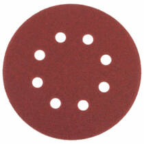 Tépőzáras csiszolókorong, vászon 8 lyukkal, 10 db, 125 mm, P100