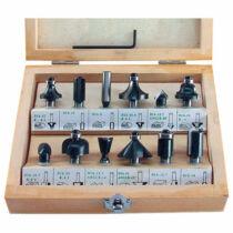 Extol felsőmaró klt. 12db, kisebb szett (fadobozban)   8mm-es befogással (44032)