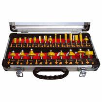 Extol felsőmaró klt. 24db (alu kofferben)   8mm-es befogással, keményfém lapkás (44039)