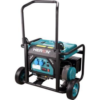 Heron benzinmotoros áramfejlesztő, 1 fázisú, max. teljesítmény 3 kVA (8896140)