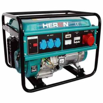 Heron EGM-60 AVR-3 benzinmotoros áramfejlesztő [max. 5000 W] (8896112)