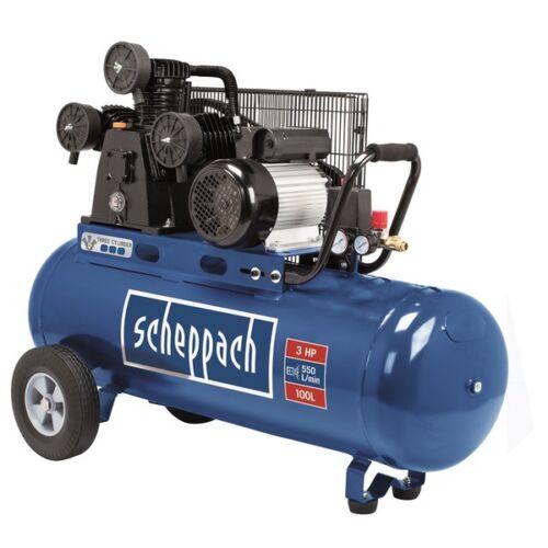 Scheppach HC 550 TC olajkenésű háromhengeres kompresszor, 230 V