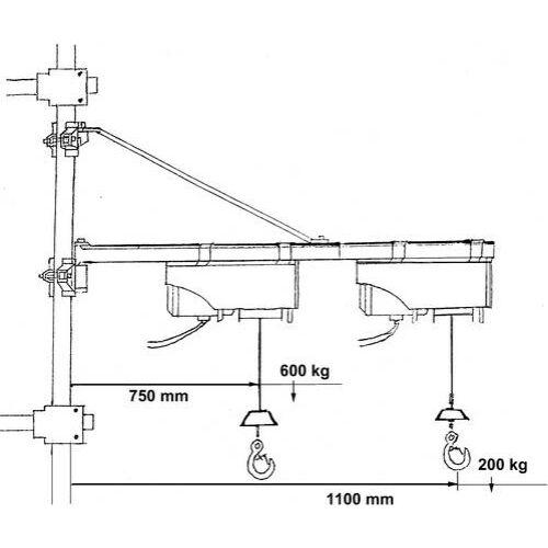 1715 Güde lengőkar Typ 1200, 100-500 kg