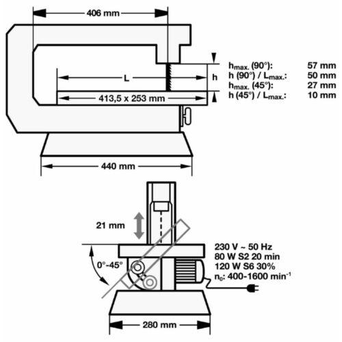 Einhell TC-SS 405 E asztali dekopírfűrész