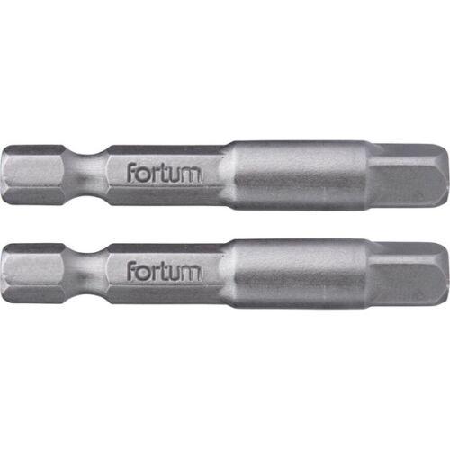 """Fortum adapter klt. 2 db, dugókulcsok gépi befogásához; S2 acél, 1/4"""", 50 mm, bliszteren"""