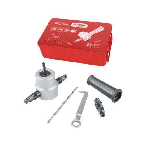 Extol Prémium fúrógéppel hajtható mechanikus lemezvágó/lyukasztó fej, max. 2 mm lemezekhez (8813651)
