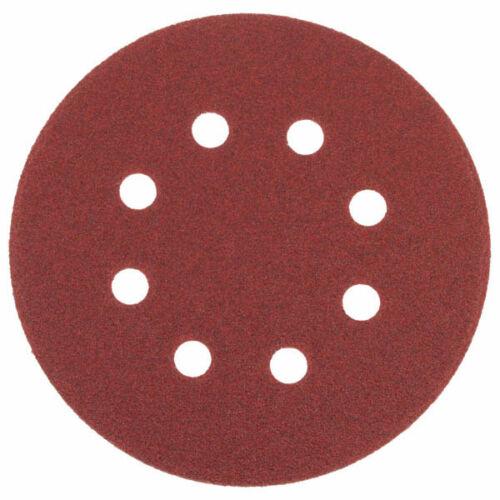 Tépőzáras csiszolókorong, vászon 8 lyukkal, 10 db, 125 mm, P180