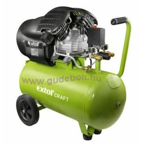 Extol olajos légkompresszor, 2200W, 50l tartály, 8 bar, 412l/min (418211)